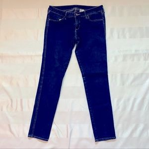 Women's skinny jeans in mid dark wash from H&M